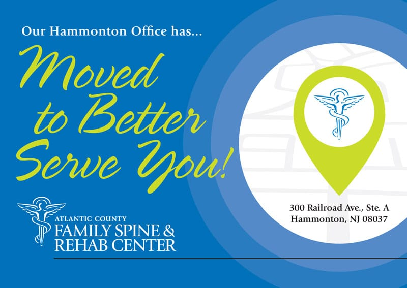 Atlantic County Family Spine & Rehab Center in Hammonton Has Moved